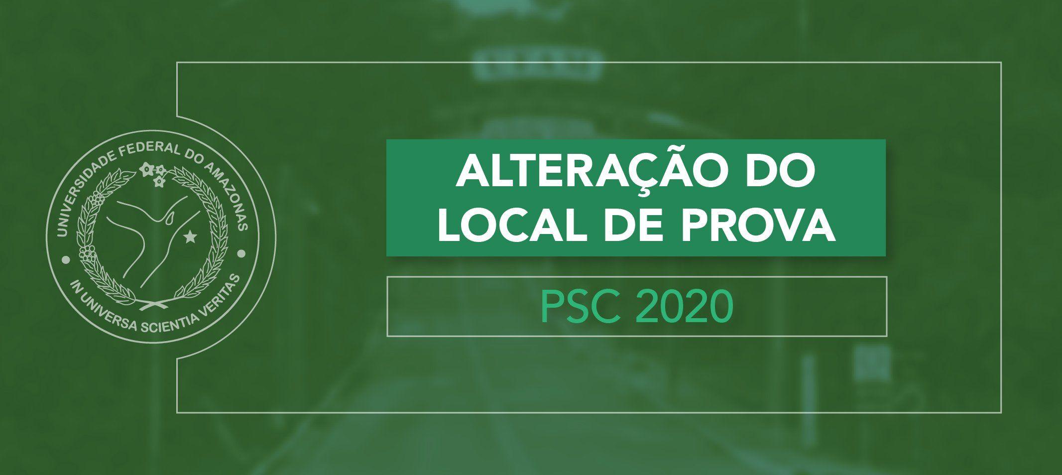 Compec informa alteração no local de prova do PSC 2020