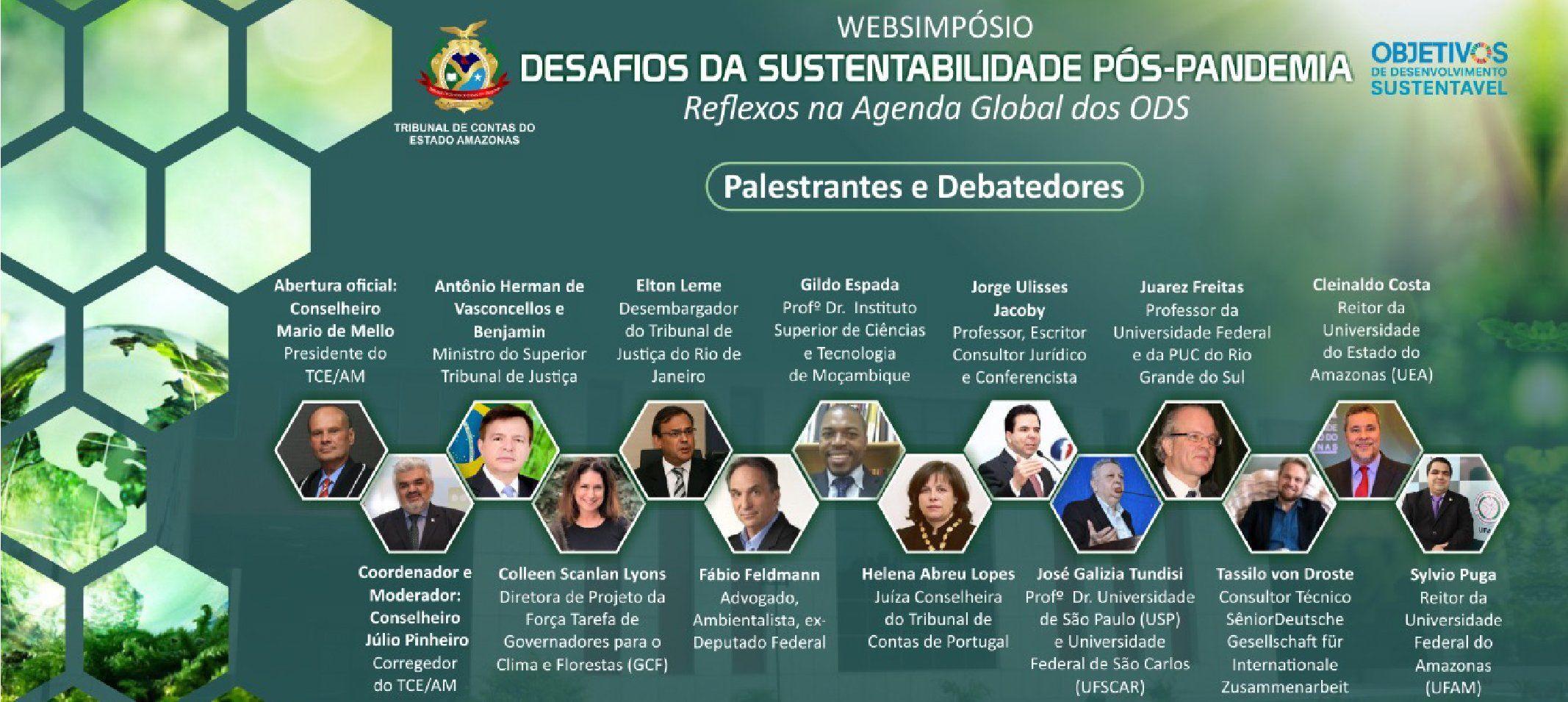 Dia Mundial do Meio Ambiente - Reitor da Ufam participa de websimpósio que discute os desafios da sustentabilidade pós-pandemia dia 5 de junho