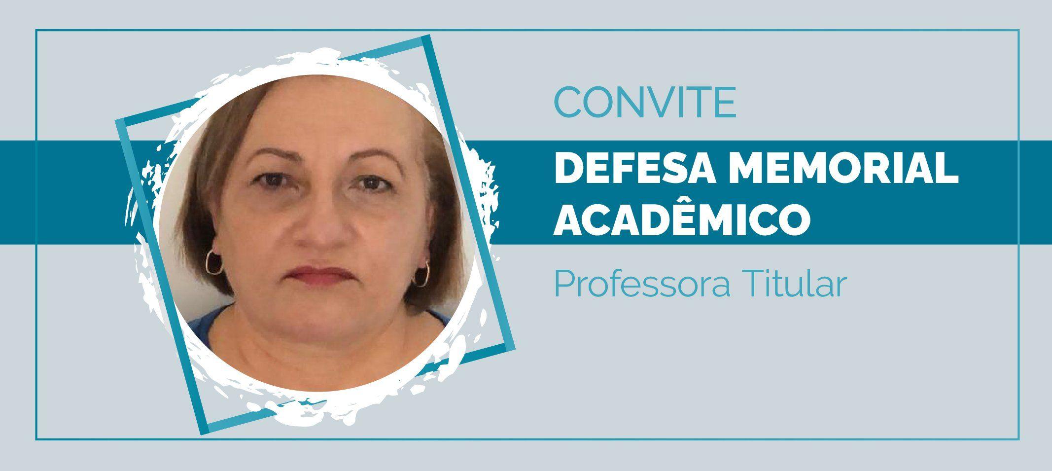 Professora Maria Ivone Lopes da Silva defende memorial para ascender à Titular