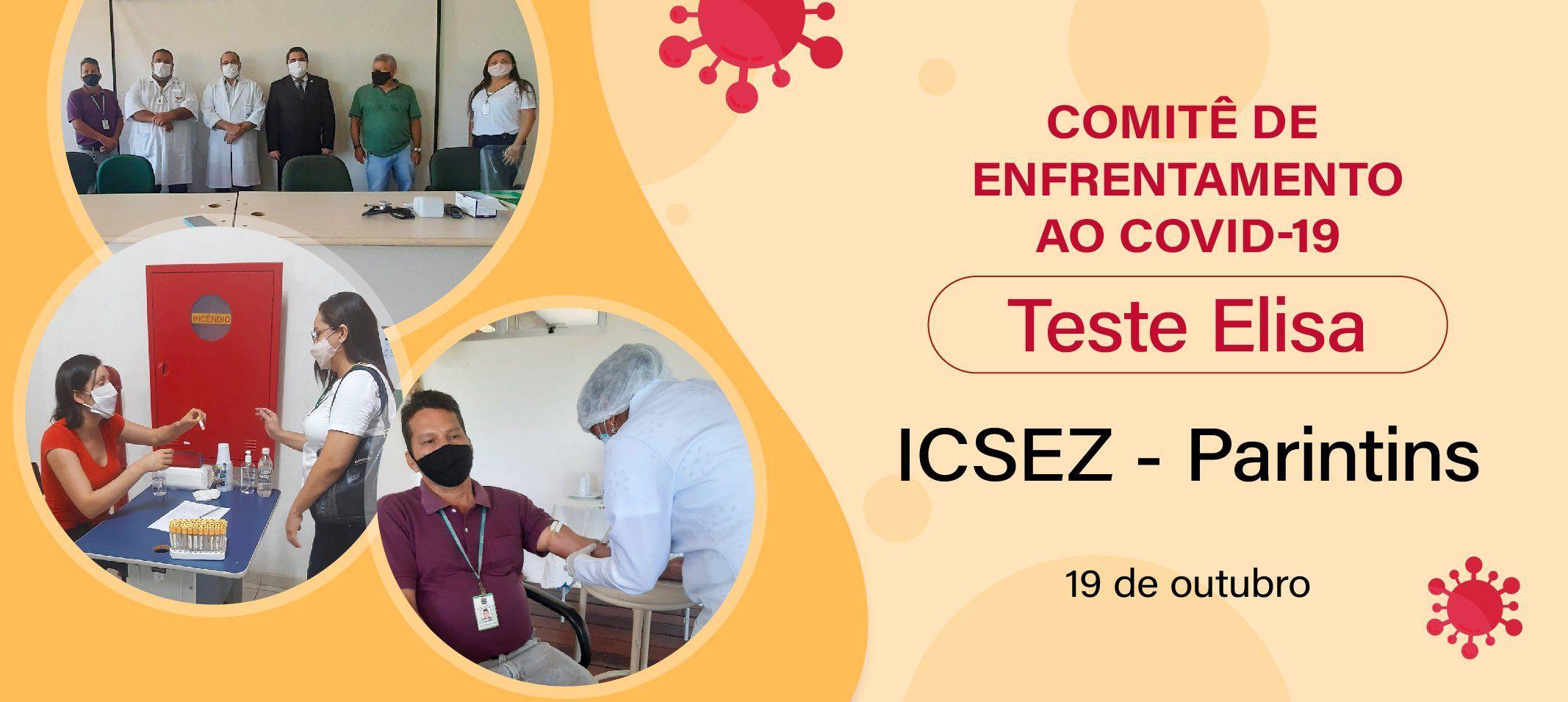 Servidores do Icsez são testados em ação do Comitê de Enfrentamento ao covid-19
