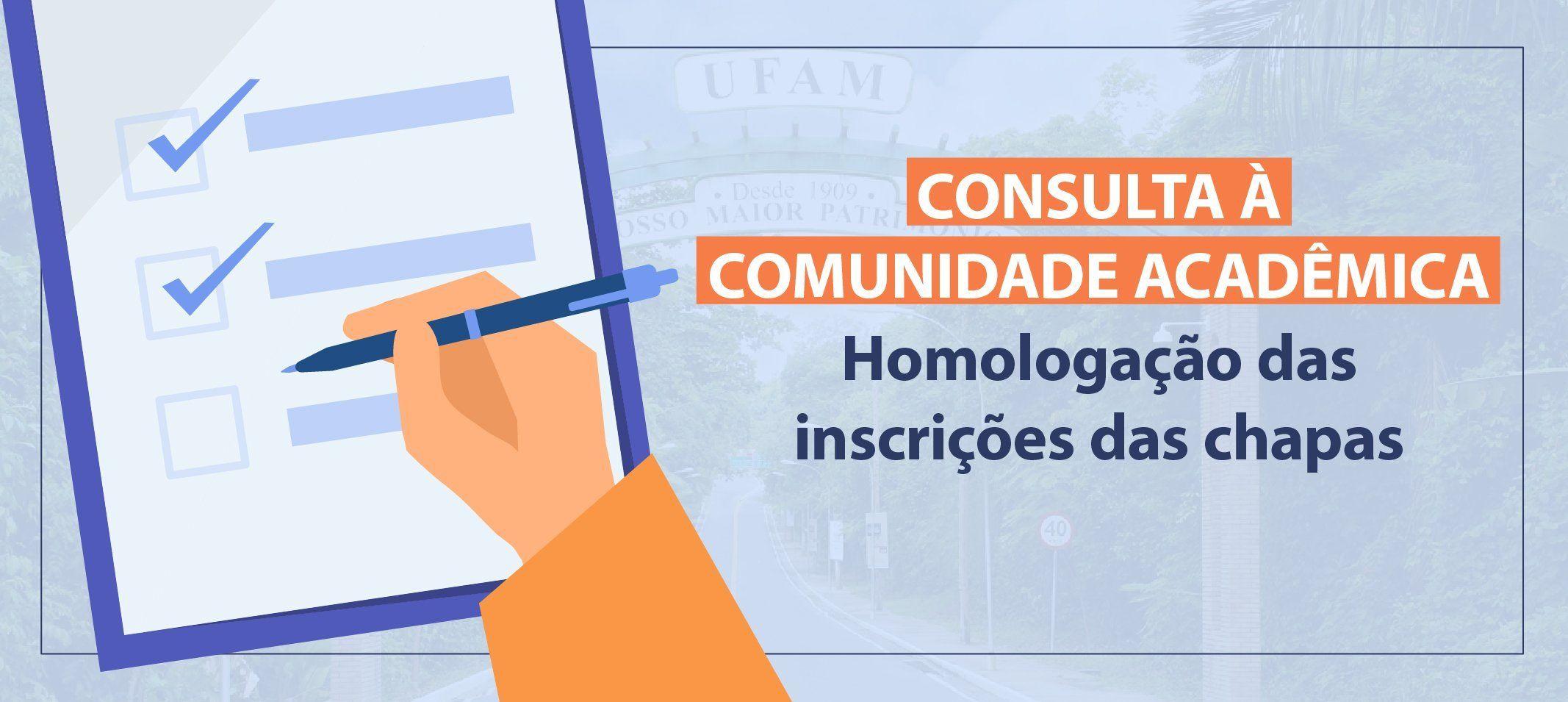 Comissão de Consulta à Comunidade Universitária para o cargo de reitor(a) e vice-reitor(a) divulga inscrições homologadas