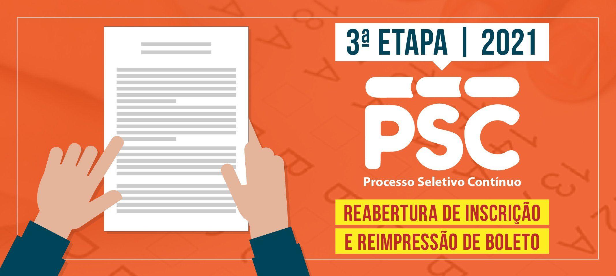 Compec divulga reabertura das inscrições e reimpressão do boleto do Processo Seletivo Contínuo – 3ª Etapa