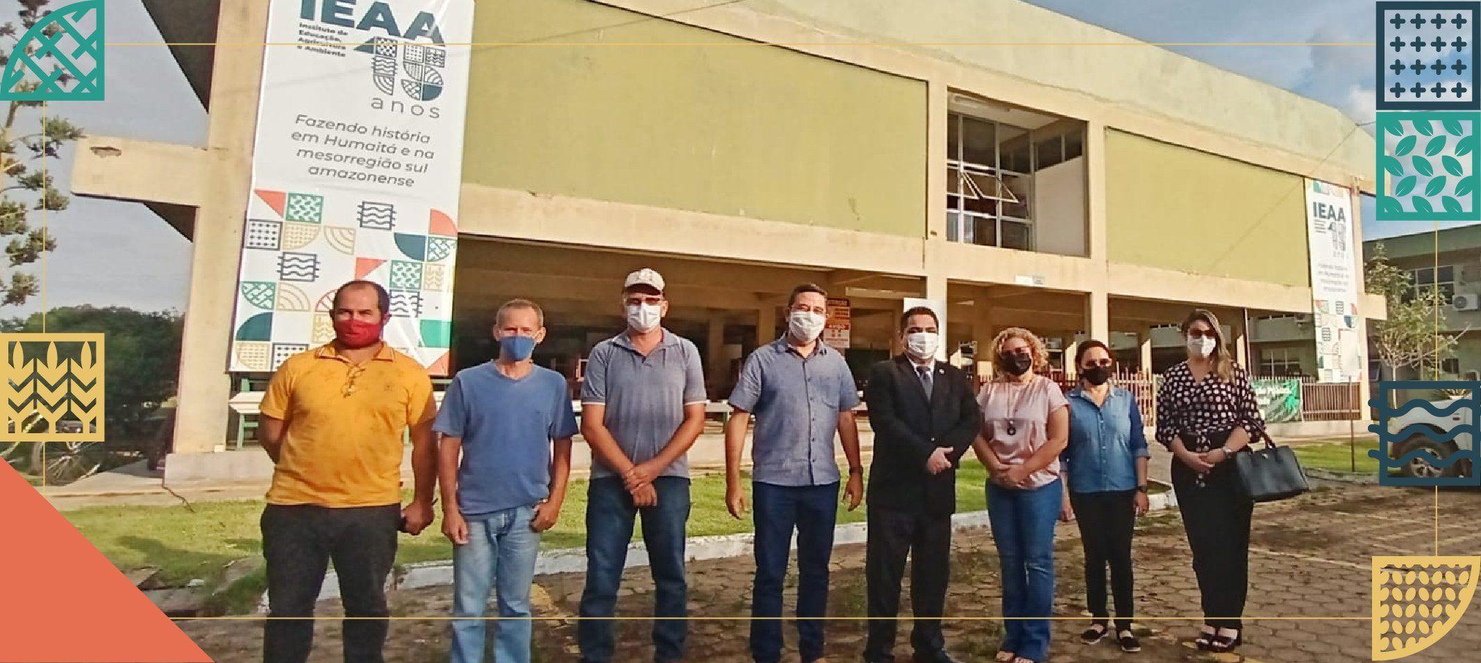 Em Humaitá, no IEAA, reitor recebe secretário de Produção Rural, Petrúcio de Magalhães Júnior