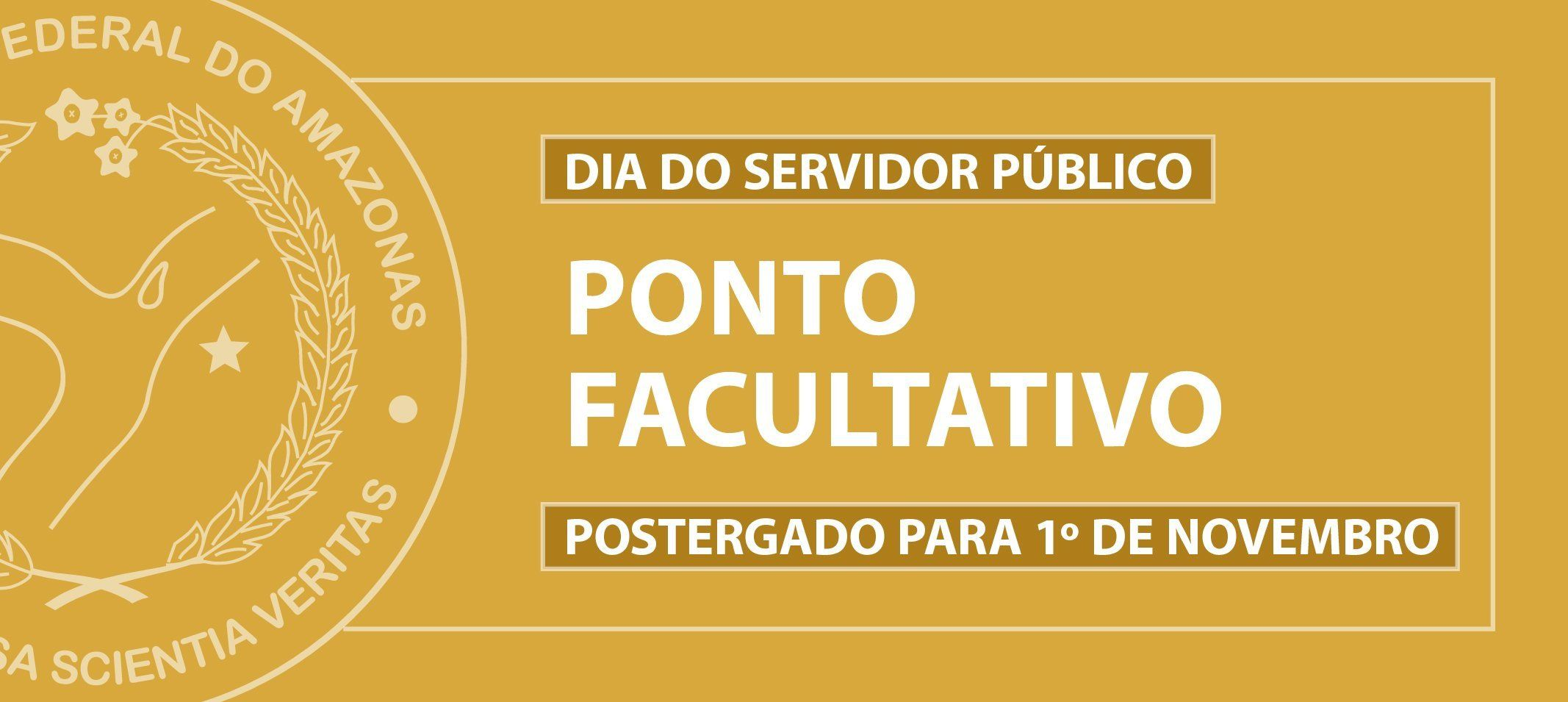 Ponto facultativo do dia do Servidor Público postergado para o dia 1 de novembro